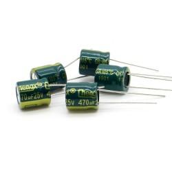 5x Condensateur 470uF 25V 10x11mm - pas: 5mm - Chengxing - 235con533