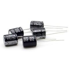 5x Condensateur 470uF 25V 10x12.5mm - pas: 5mm - Samxon - 236con535