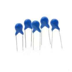 5x Condensateur ceramique 82pf - 1kv - 1000v Haute Tension - 123con544