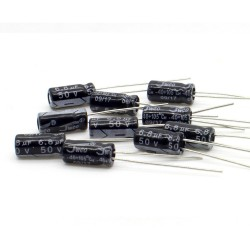 10x Condensateur 6.8uF 50V 5x11mm pas: 2.5mm - jwco - 237con553