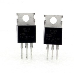 2x Triac BT136-600E - 600V - 4A - To-220 - WeEn Semicon