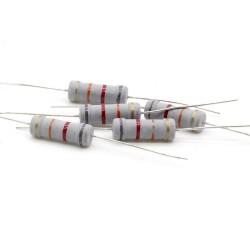 5x Résistance métal oxyde 2w - 82kohm - 5% - 244res526