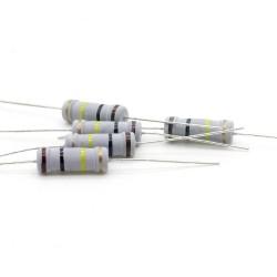 5x Résistance métal oxyde 2w - 100kohm - 5% - 245res527
