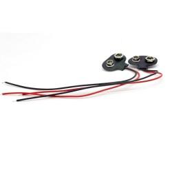 2x Support pile 9V - avec câble 15cm - a souder