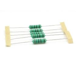 5x Résistance métal - 1.5kohm - 1.5k - 3W - 1% - 265res657