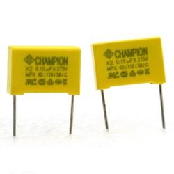 2x Condensateurs MKP MEX-X2 100nf 0.1uF P:15mm 275V - Tenta - 227con561