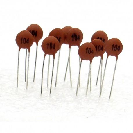 10x Condensateur Céramique 104 - 100nf - 50v - 104con248