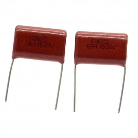 2x Condensateur Film métallisé L564J 0.56nf 560uf 630v 22x16mm - 10con058