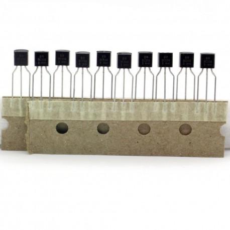 10x Transistor BC556 - BC556B 614 - PNP - TO-92 - 38tran028