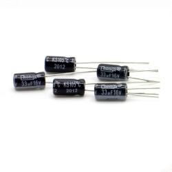 5x Condensateur 33uF 16V 4x8mm - Chengx - 64con168