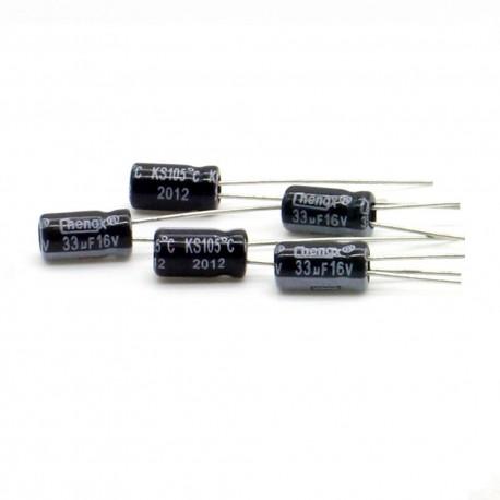 5x Condensateur chimique radial 33uF 16V 4x8mm - 64con168