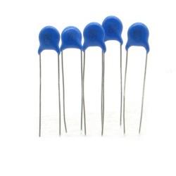 5x Condensateur ceramique 222 2.2nf - 1kv - 1000v Haute Tension - 123con543