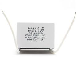 Condensateur moteur 1.5uf - 400v - MKSP-8 - Miflex