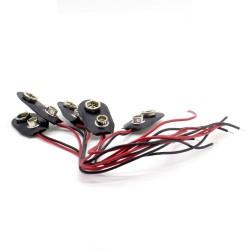 5x Support pile 9V - avec câble 15cm - a souder - Q&J