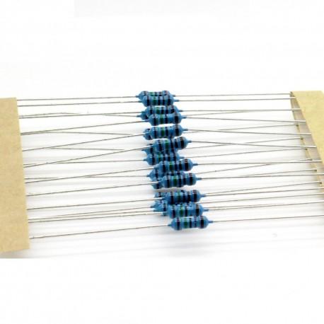 20x Résistances métal ¼W - 0.25w - 1% - 1.5kohm - 1.5k ohm