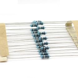 20x Résistances métal ¼W - 1% - 10Kohm - Uniroyal - 59res145