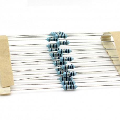 20x Résistances métal ¼W - 0.25w - 1% - 10Kohm 10K ohm