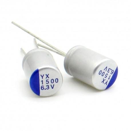 2x Condensateur alu 1500uf 6.3v - 10x13mm - alu - 9con157
