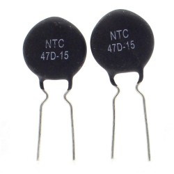 2x Thermistance NTC - 47D-15 - 47ohm - 7.5mm - RUILON