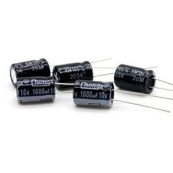 5x Condensateur chimique 1000uf 10v 8x12mm - Chengxing