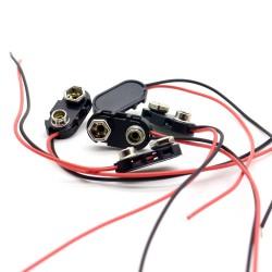 2x Support pile 9V - avec câble 15cm - a souder - 98pri005
