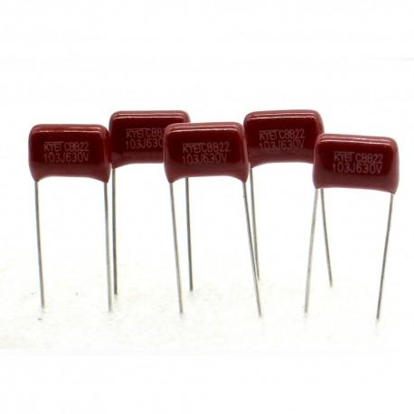 5x Condensateur Film métallisé 103 0.01uf 10nf 630v 11x8mm 12con211