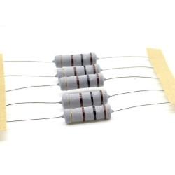 5x Résistance métal oxyde 2w - 100R - 100ohm - 5% - 119res215