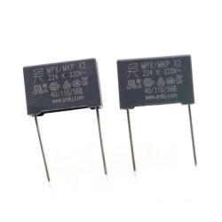 2x Condensateurs MPX MPK X2 224K 220nf P:15mm 320V - SRD - 349con650