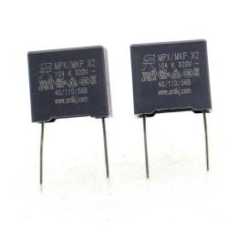 2x Condensateurs MPX MPK X2 104K 100nf P:10mm 320V - SRD - 349con651