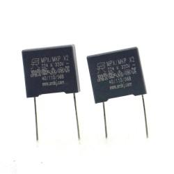 2x Condensateurs MPX MPK X2 224K 220nf P:10mm 320V - SRD - 350con656