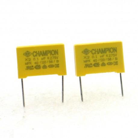 2x Condensateurs MPX MPK X2 224K 220nf P:10mm 275V - 229con509