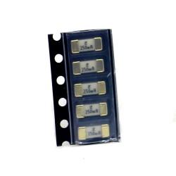 5x lot Fusible ceramique 1808 SMD - 0.25A -125V - 2.6x6mm- 172fus250