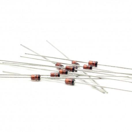 10x Zener Diode 1N4733A - 1w - 5.1v - NE-41 - 127diod043