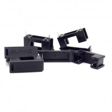 5x Porte fusible BLX-A 5x20mm a souder avec couvercle - 250v - 26pofus004