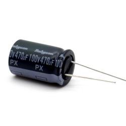 Condensateur 470uf - 100V - 16x25mm P: 7.5mm - Rubycon