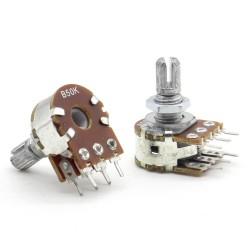 Potentiomètre Double stéréo B50K - 50k linéaire - WH148 - 63pot014