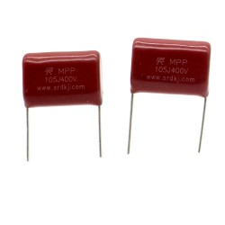 2x Condensateur CBB22 105J - 1uf - 630v Pas: 20mm - KYET - 223con475