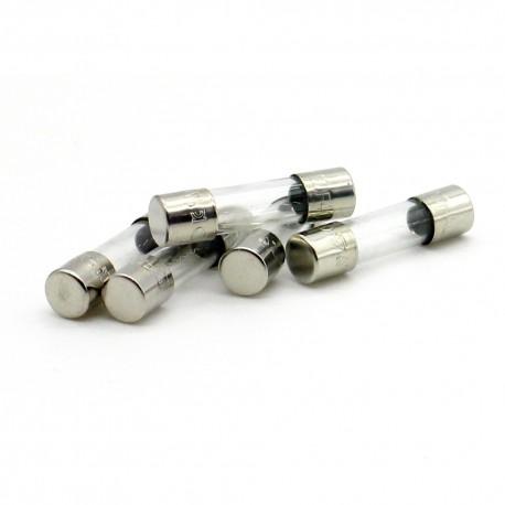 5x Fusibles verre 5x20mm fusion Rapide 0.2A - 250v