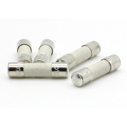 5x lot Fusible ceramique 5x20mm Rapide F0.5A 500mA - 250v - 69fus083
