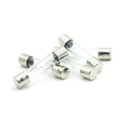 5x Fusibles verre 6x30mm Temporisé - T1A - 1A - 250v - 97fus176