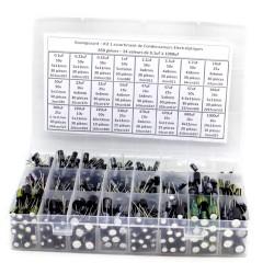 Pack condensateur electrolitique - 650 pièces - 24 valeurs - B9-650